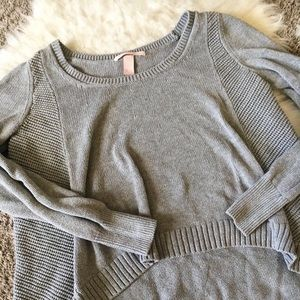 Victoria's Secret Knitted Grey Slouch Sweater